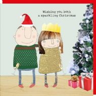 Rosie Made a Thing 'Both Sparkling' Christmas Card